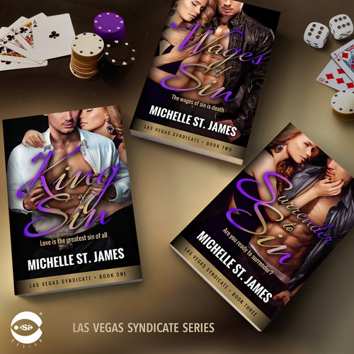 "Book covers for ""Las Vegas Syndicate Series"" by Michelle St. James"