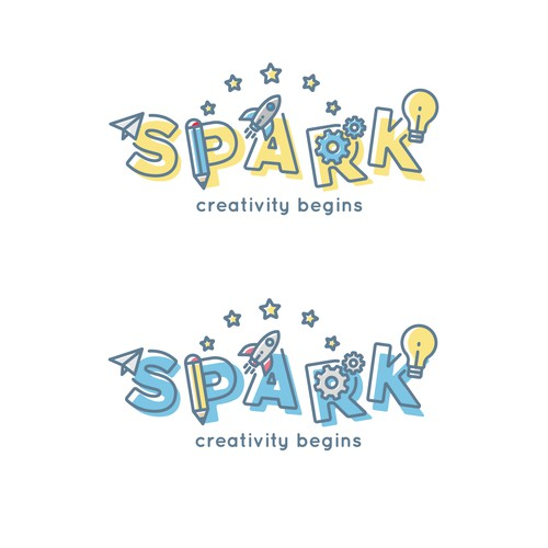 Spark childcare logo contest finalist.