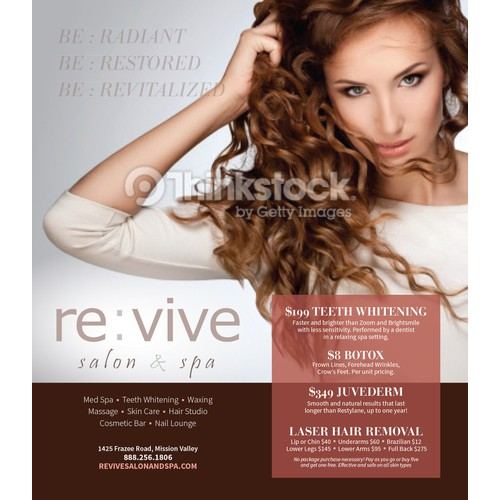 Ad Concept for re : vive salon & spa