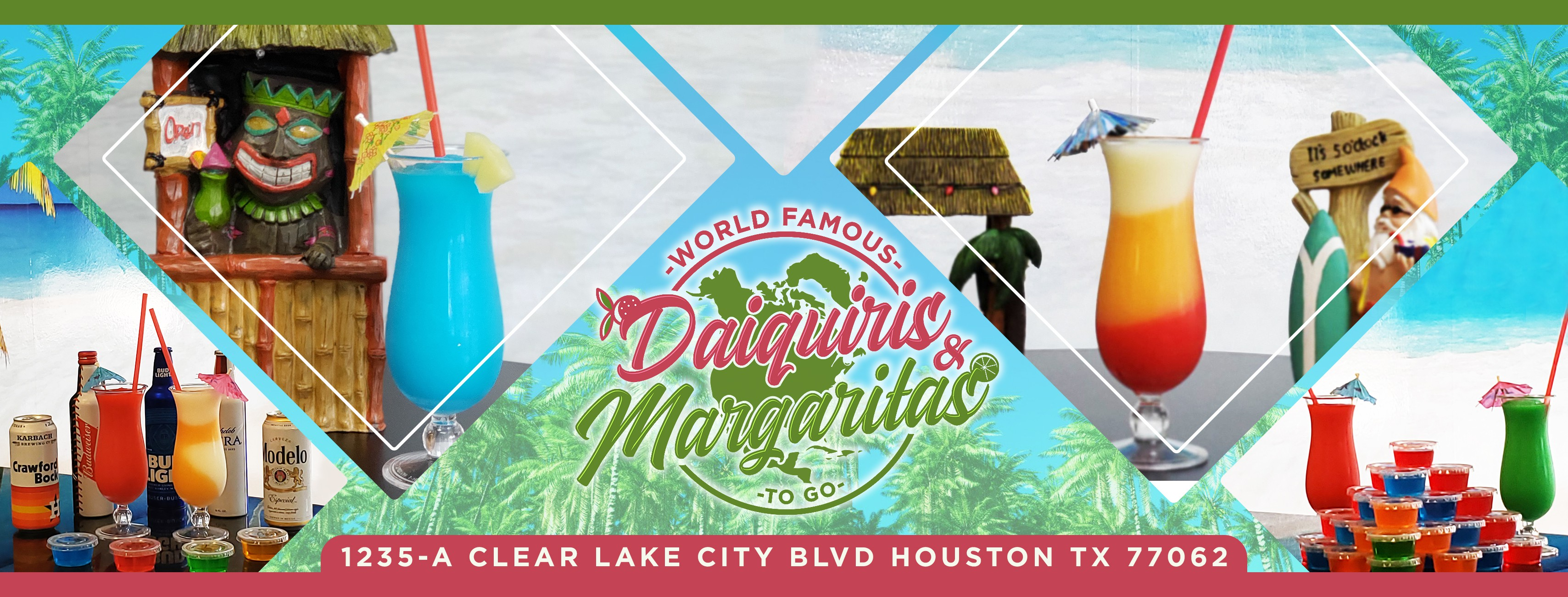 Facebook cover for World Famous Daiquiris