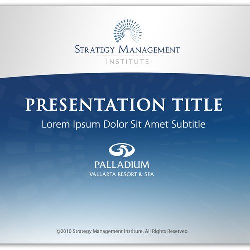 PowerPoint Template Needed for Strategy Training Firm