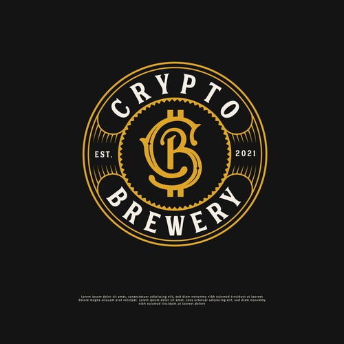 Vintage Logo Crypto Brewery