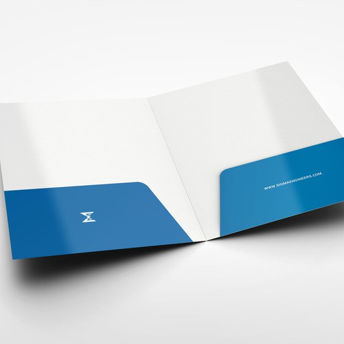 Folder Design for an Engineering Brand