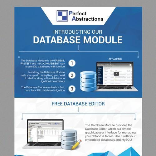 Database Product flyer