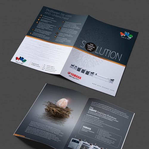Create a significant brochure for YAMAHAs Total Line Solution