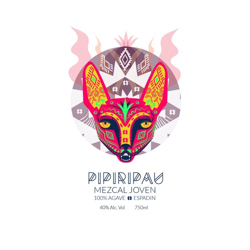 Label Design for Mezcal Pipiripau