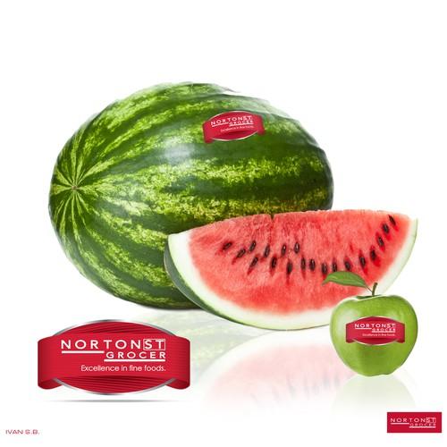 Norton ST Grocer label