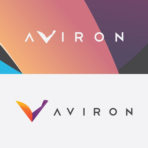 Concept logo for Aviron