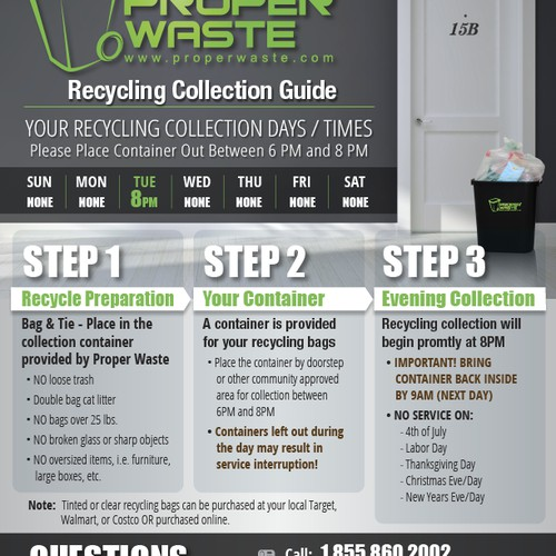 Waste and recycling guides for Proper Waste!