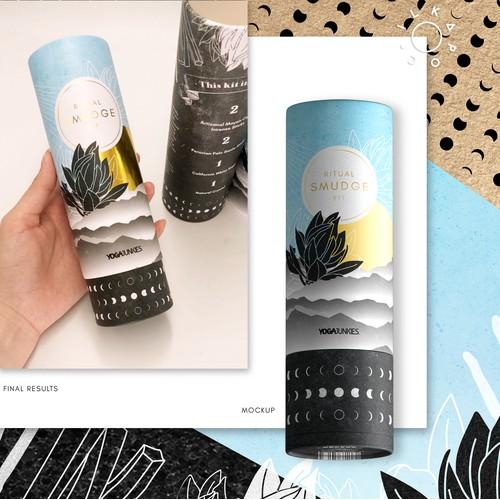 Packaging design for Yoga Junkies' Smudge Kit