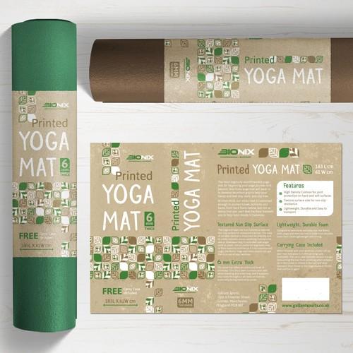 Yoga Mat label