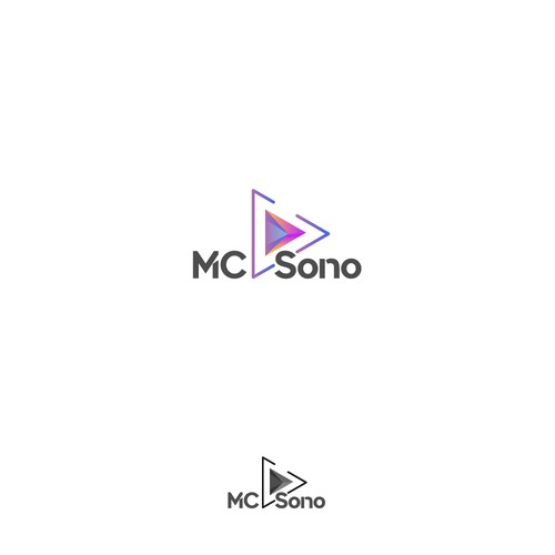 Logo concept for audio/video store