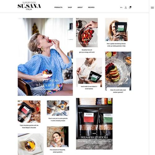 WordPress & WooCommerce webdesign Susana superfood