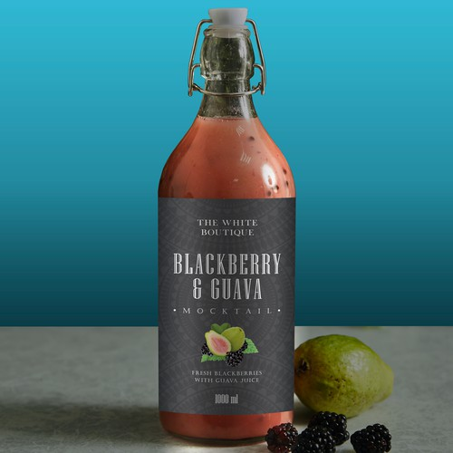 Blackberry and Guava mocktail