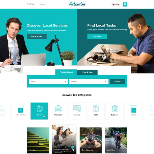 Job Listing Website Design
