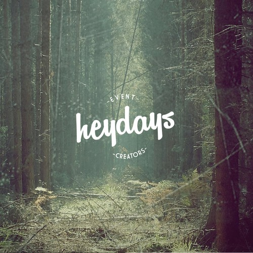 Create a logo for Heydays a fun 'indie' event styling company.