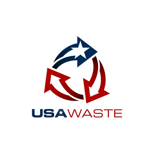 Simple and Bold Logo for USA Waste