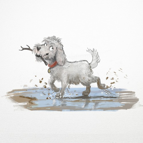 Naughty dog for children's book
