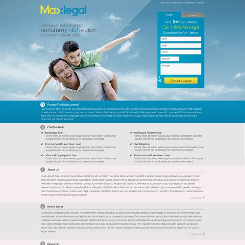 Maxlegal.com needs a new website design