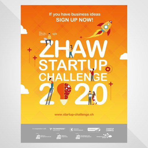 Poster for Zhaw Startup Challenge 2020