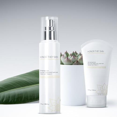 Elegant logo for beauty care product