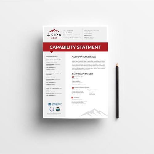 Capability Statement Design