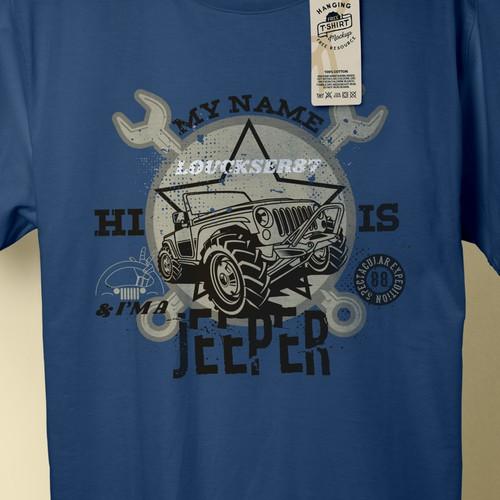 Customizable Jeep Printful T-Shirt Design