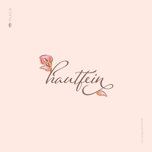 Feminine sophisticated flower logo for a cosmetics & beauty business.
