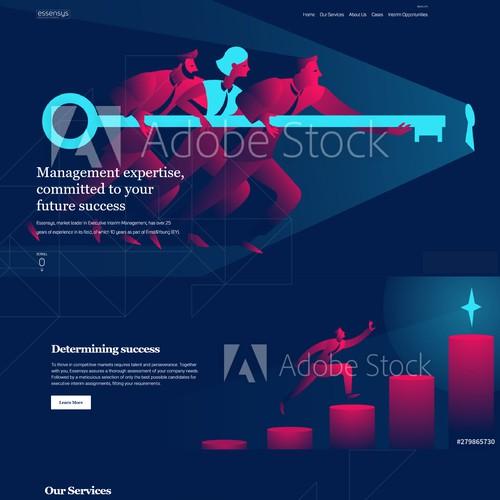 Consulting company web design concept