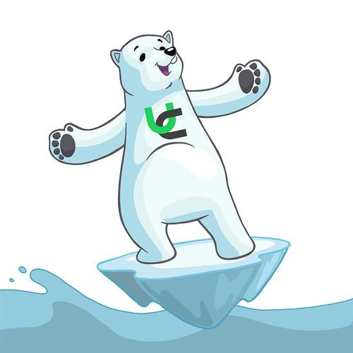 Polar bear mascot design