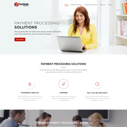 Create a bold website that inspires confidence and trust, very clean and light feeling to the site