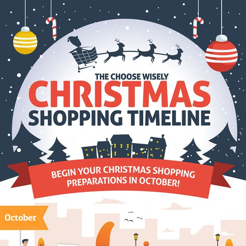 Christmas Shopping Infographic