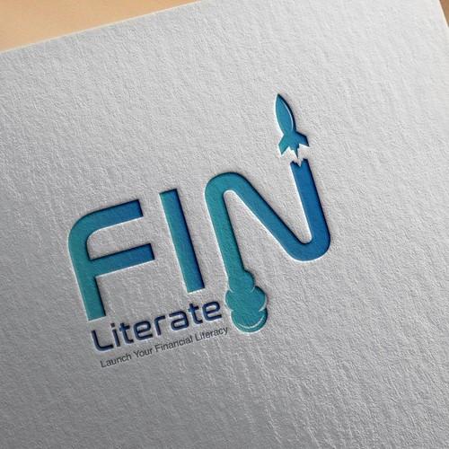 Fin Literate Logo Design
