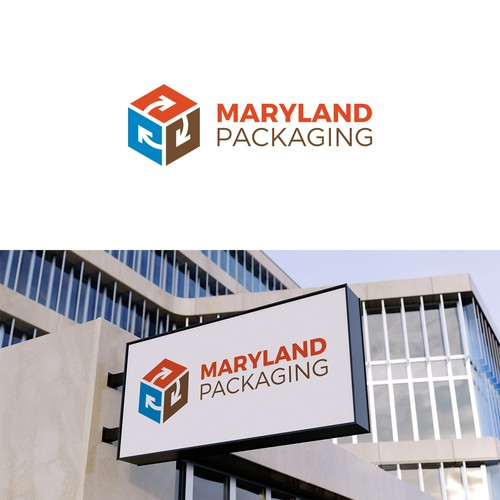 logo concept for maryland packaging