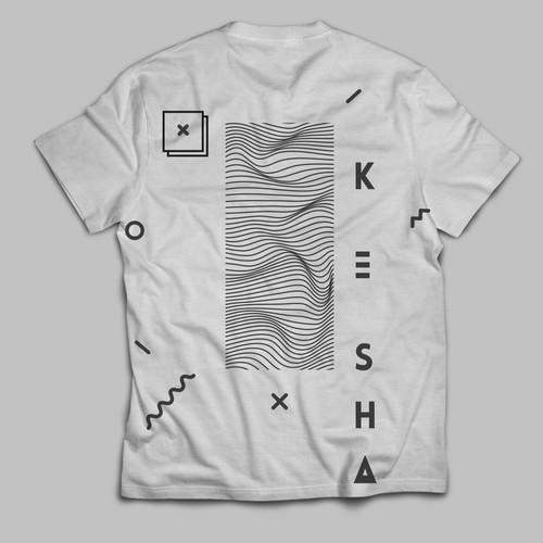 streetwear shirt design of Kesha