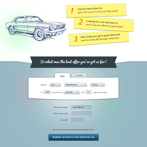 New website design wanted for Car Price