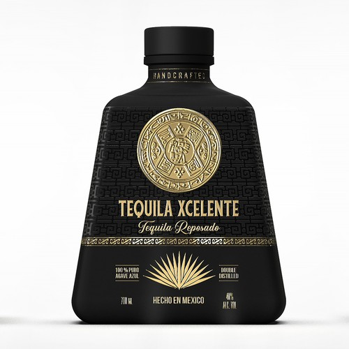 "Luxurious design for our premium spirit ""Tequila Xcelente"""