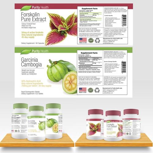 Purity Health Supplement Bottles
