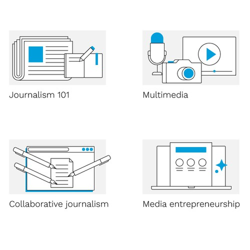 illustrations for a journalism website