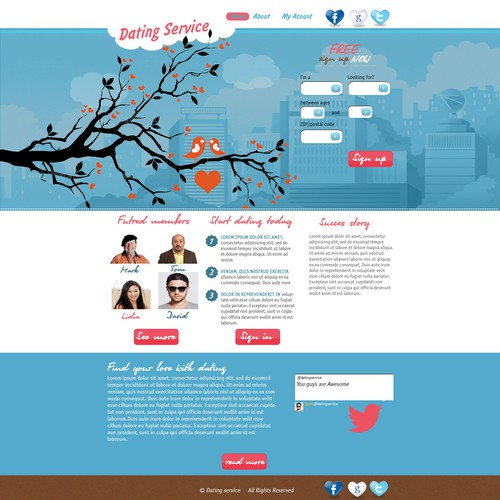 dating website needs a new design