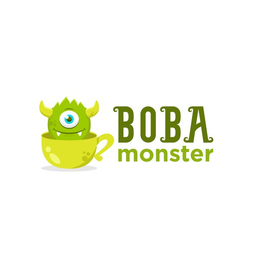 Design a mascot logo for Boba Monster