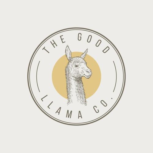 Hand drawn Llama logo