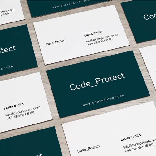 A coded Logo & Business card Design