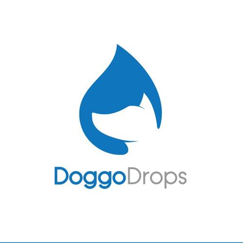 Design a hip logo for Doggo Drops - vitamin drops for dogs