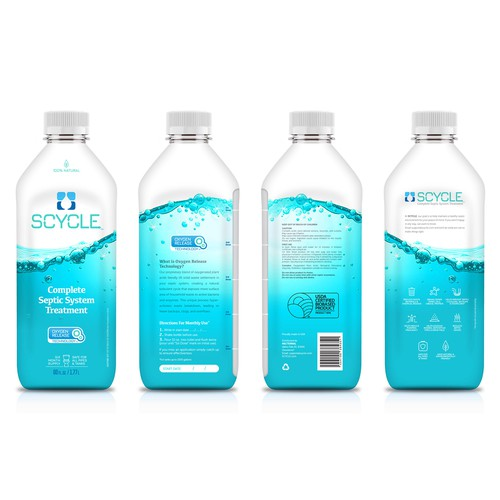 Liquid Septic Treatment Label Design
