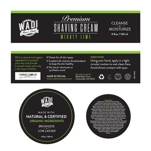 Premium Shaving Cream pack design