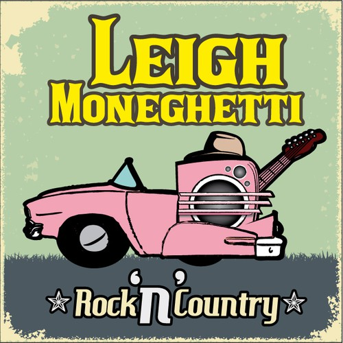 DESIGN A RETRO COUNTRY & ROCK 'N' ROLL ALBUM COVER