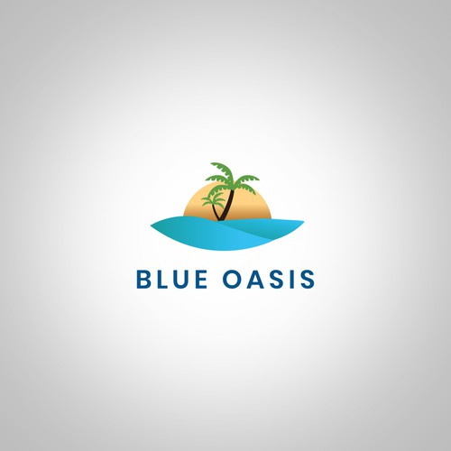 Oasis logo concept for a bottled water