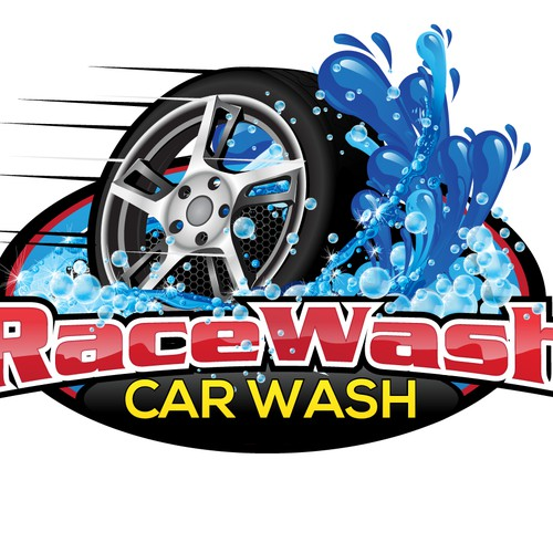 Create the next logo for RaceWash Car Wash