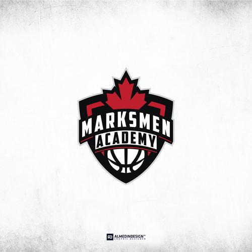 Marksmen Academy Logo design.